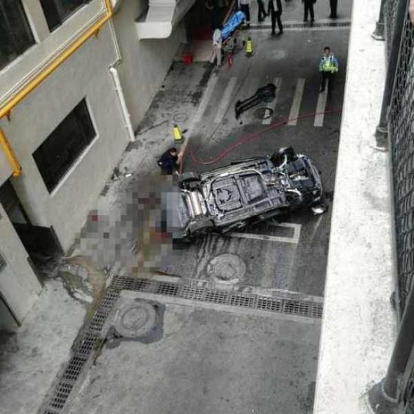 广州警方:停车场汽车高坠落地致驾驶员死亡系意外
