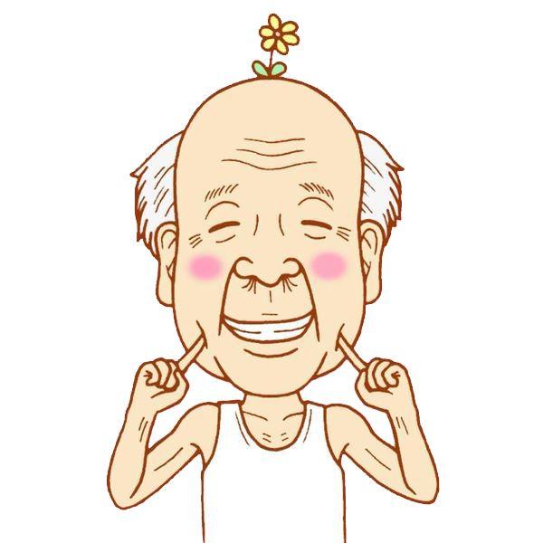 老人面部手绘动漫