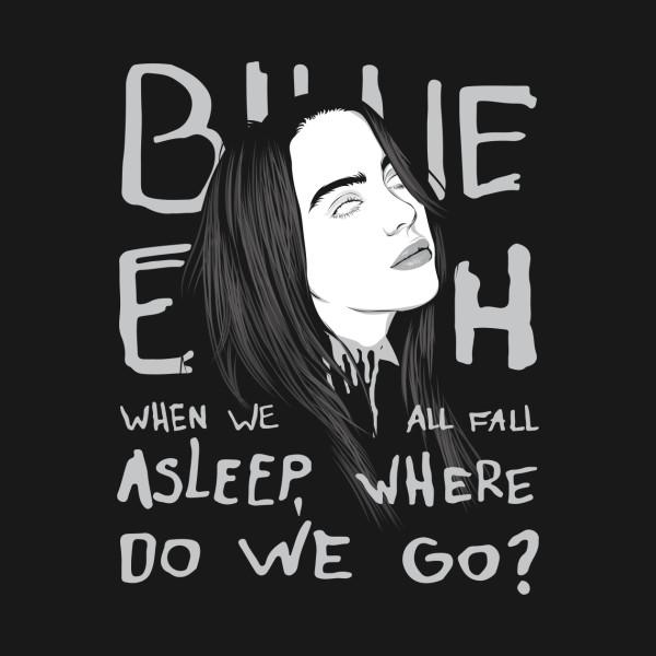 比莉·艾利什的专辑《当大家睡着了,我们去哪儿?》封面(资料图片)