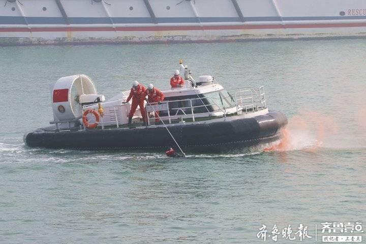 烟台海域船舶起火?别急!是2019交通运输部救捞系统应急演练