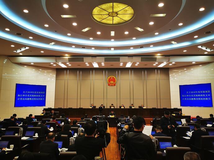 浙江省人大常委会第十五次会议审议《我省2018年度审计报告》