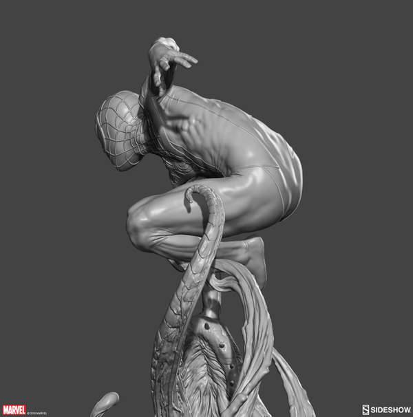 《蜘蛛侠:平行世界》小黑蛛雕像 身姿矫健威风凛凛