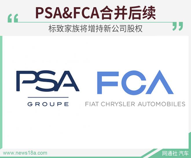 PSA&FCA合并后续 标致家族将增持新公司股权