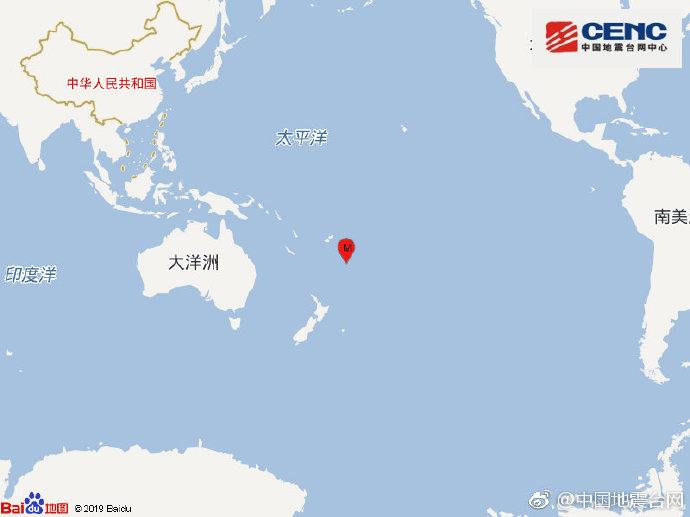 汤加以南地区发生5.2级地震|汤加|地震|中国地震台网