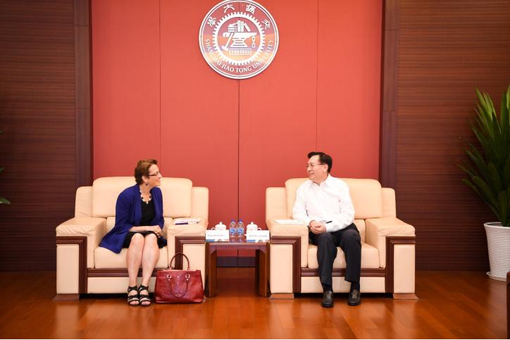 罗德基金会首席执行官一行来访上海交通大学