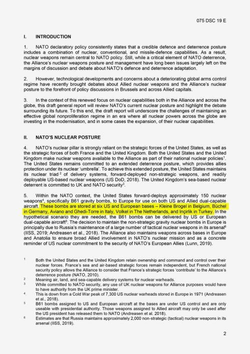 国际军事新闻|美在欧洲部署核武信息公开后 俄罗斯这样说