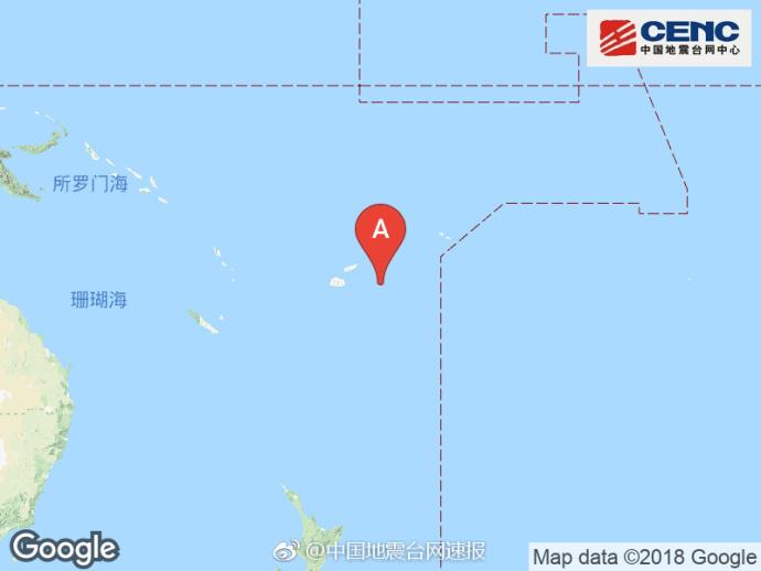 斐济群岛地区附近发生8.3级左右地震