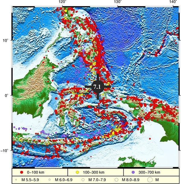 印尼7.1级地震已引发局地海啸 不会影响中国沿岸