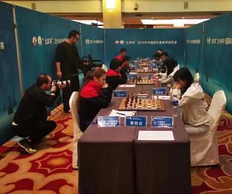 """精彩:众弈杯国际象棋联赛下午收盘中国移动上海队成为""""七冠王"""""""