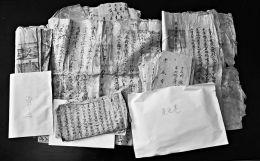 77岁老人杨兴收藏着从清朝乾隆年间至新中国成立初期的82份旧契约