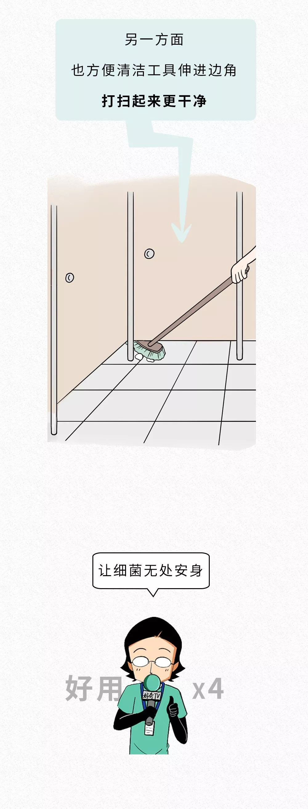 为啥公共厕所的门下面都要空一截?