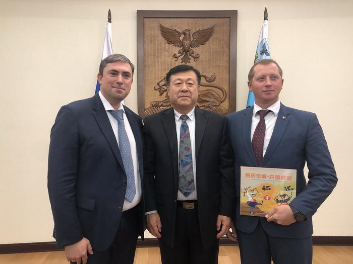于康震会见俄罗斯联邦农业部副部长乌瓦伊多夫