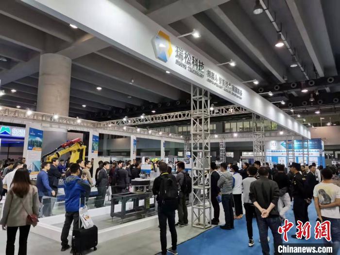 2019中国(广州)国际机器人、智能装备及制造技术展览会暨华南国际工业博览会在广州开幕 郭军 摄