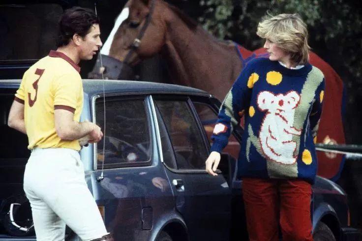 Diana & Charles play polo,1981