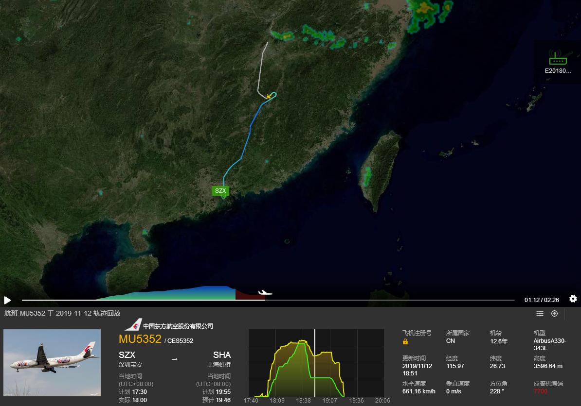 航班高空速降7000米?东航回应