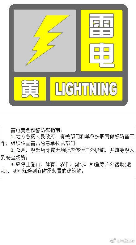 北京发布雷电黄色预警:将有雷阵雨伴大风或冰雹