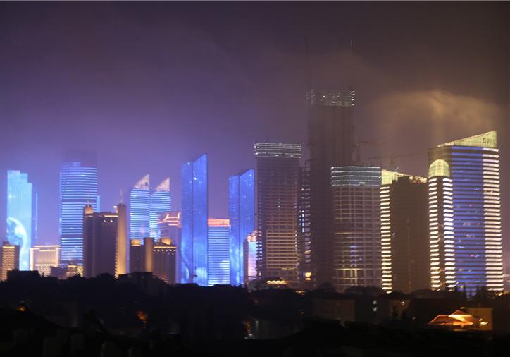 美图来袭|上合青岛峰会灯光焰火艺术表演