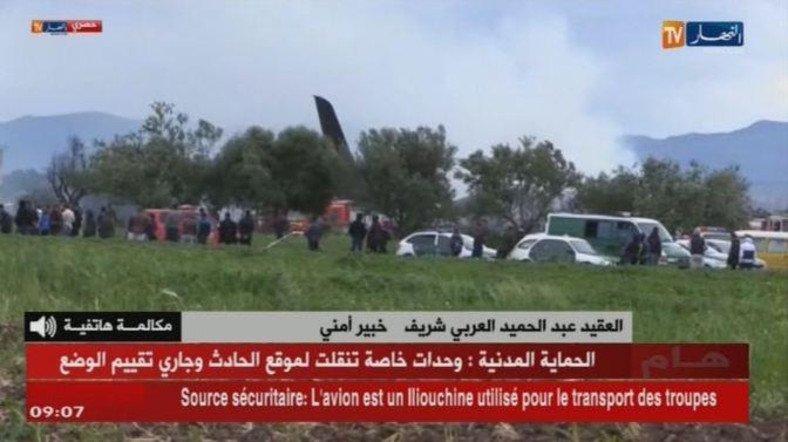 阿尔及利亚一军机坠毁 机上载有约一百名军事人员