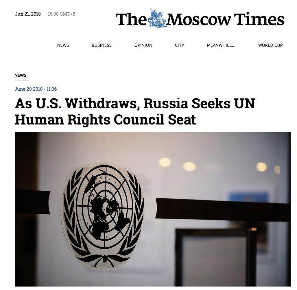 ▲《莫斯科时报》报道截图