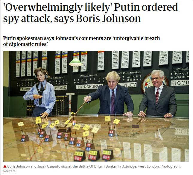 英外交大臣称普京或下令投毒 俄英外交风波持续升级
