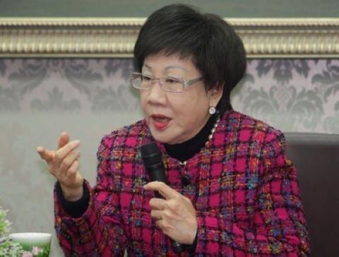 """吕秀莲4月19日就台北市长选举撂狠话,""""谁再讲第三名,你给我下台""""。(资料图)"""