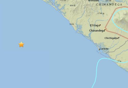 尼加拉瓜西部海域发生5.6级地震 暂无伤亡报告