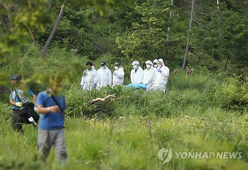 图注:韩国警方发现疑似失踪女高中生尸体