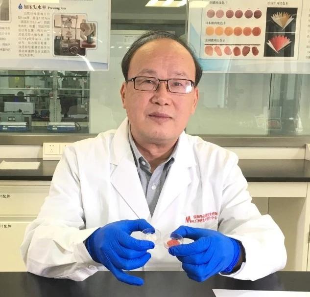 中国第一块人造培养肉在南京农业大学国家肉品中心诞生