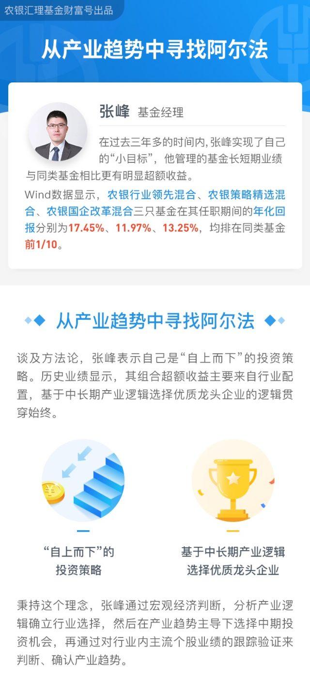 农银汇理基金经理张峰:从产业趋势中寻找阿尔法