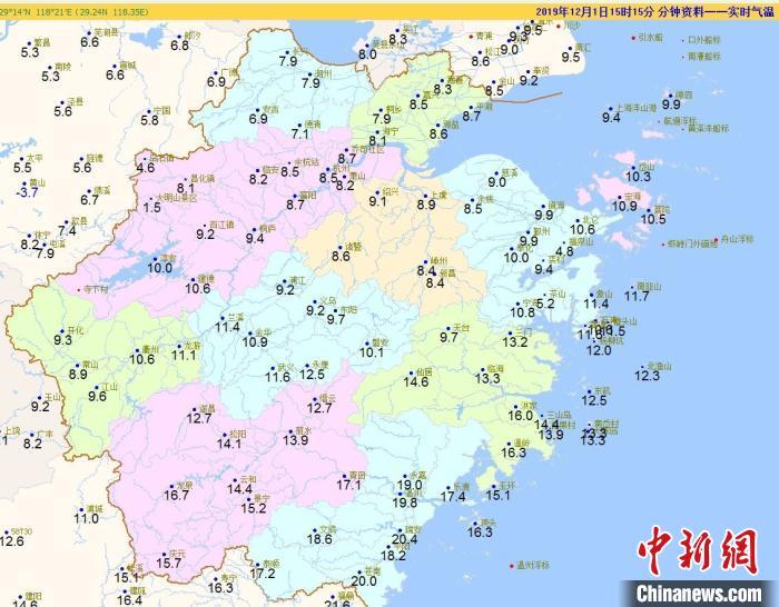 浙江上周降雨量较常年偏多100%