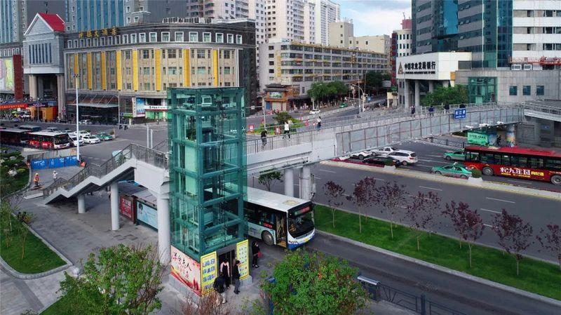 西宁每座过街天桥都要装直升电梯!沙发红木cad图片