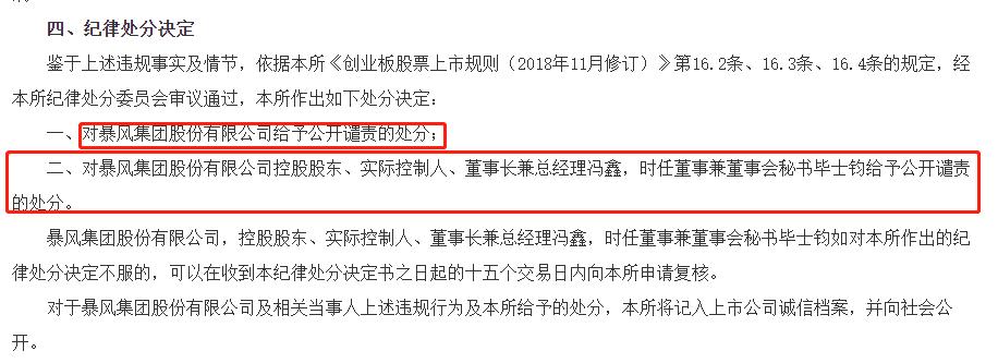 深交所公开谴责暴风集团和实控人冯鑫