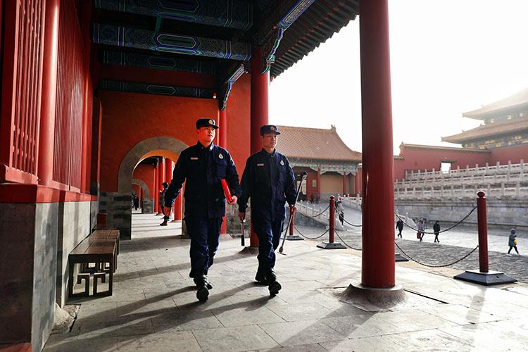 故宫消防不过年 春节正常巡检全员战备