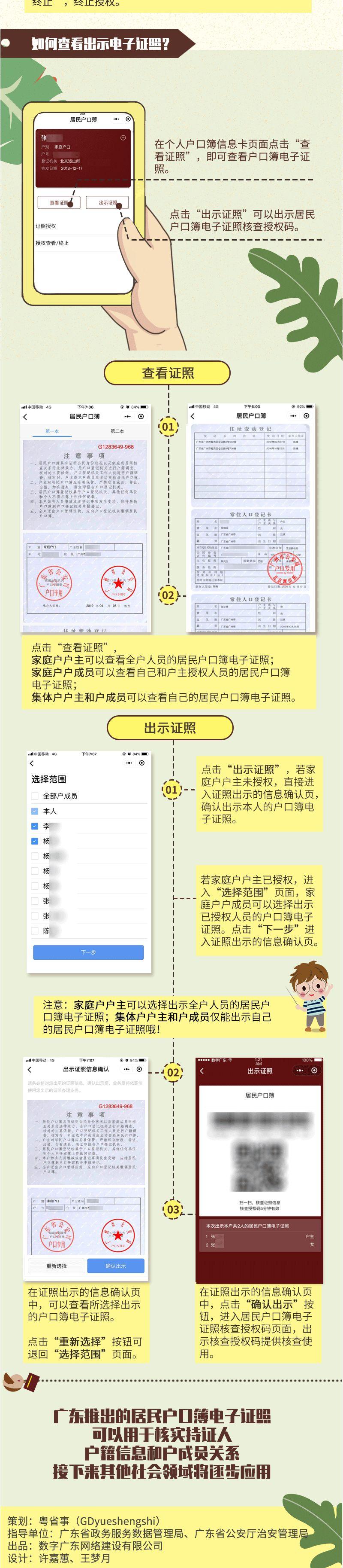广东居民户口簿也有电子证照啦!