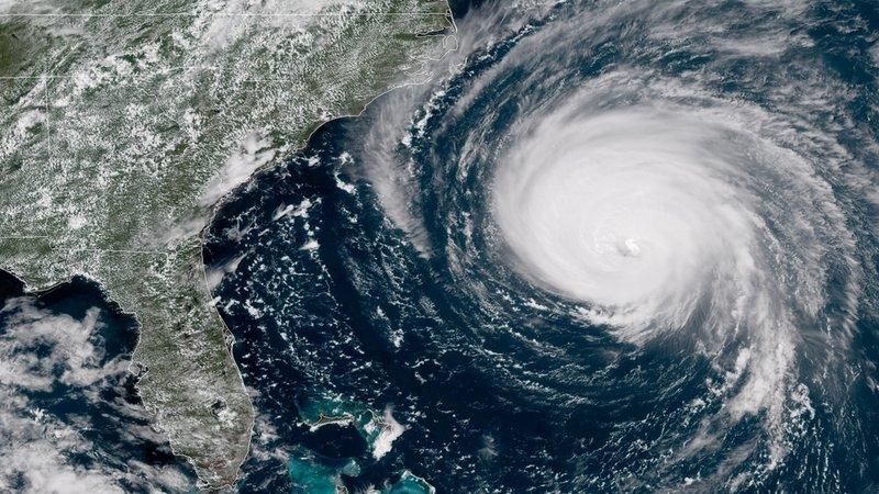美国天气预报模拟25年最强飓风过境 堪比视觉大片