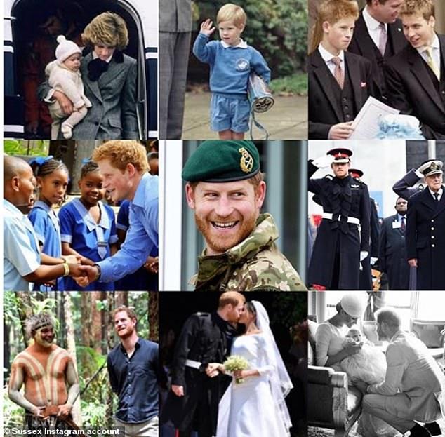 哈里王子差别期间的照片(图:逐日邮报)