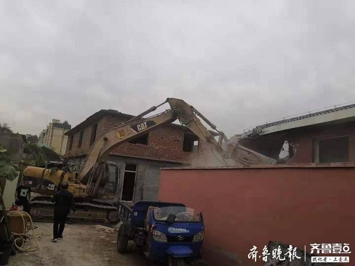 济南兴隆山附近9000余平违建被拆除,未来周边群众能开窗见绿