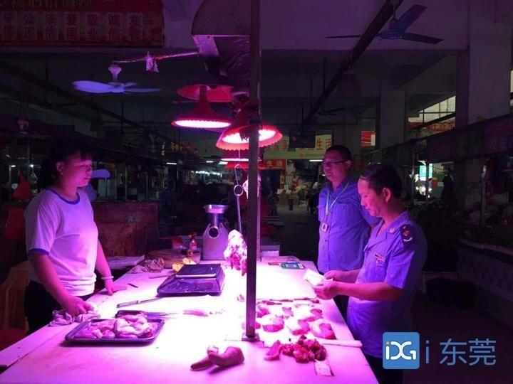 虎门开展猪肉安全专项检查,确保市民吃上放心肉