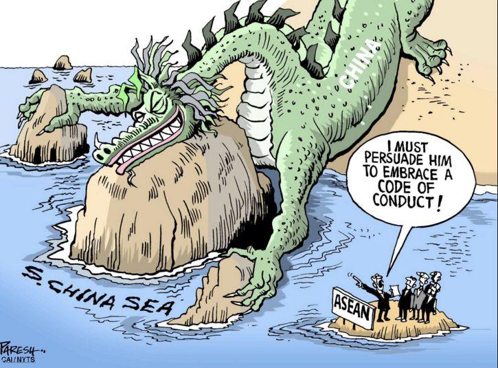 """(图为日本媒体污蔑中国是""""帝国主义""""的漫画)"""