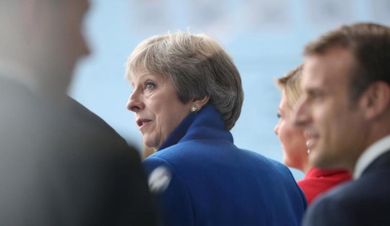 图为英国首相特蕾莎·梅(路透社)