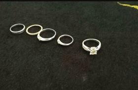 跨省盗窃团伙偷的戒指。警方供图