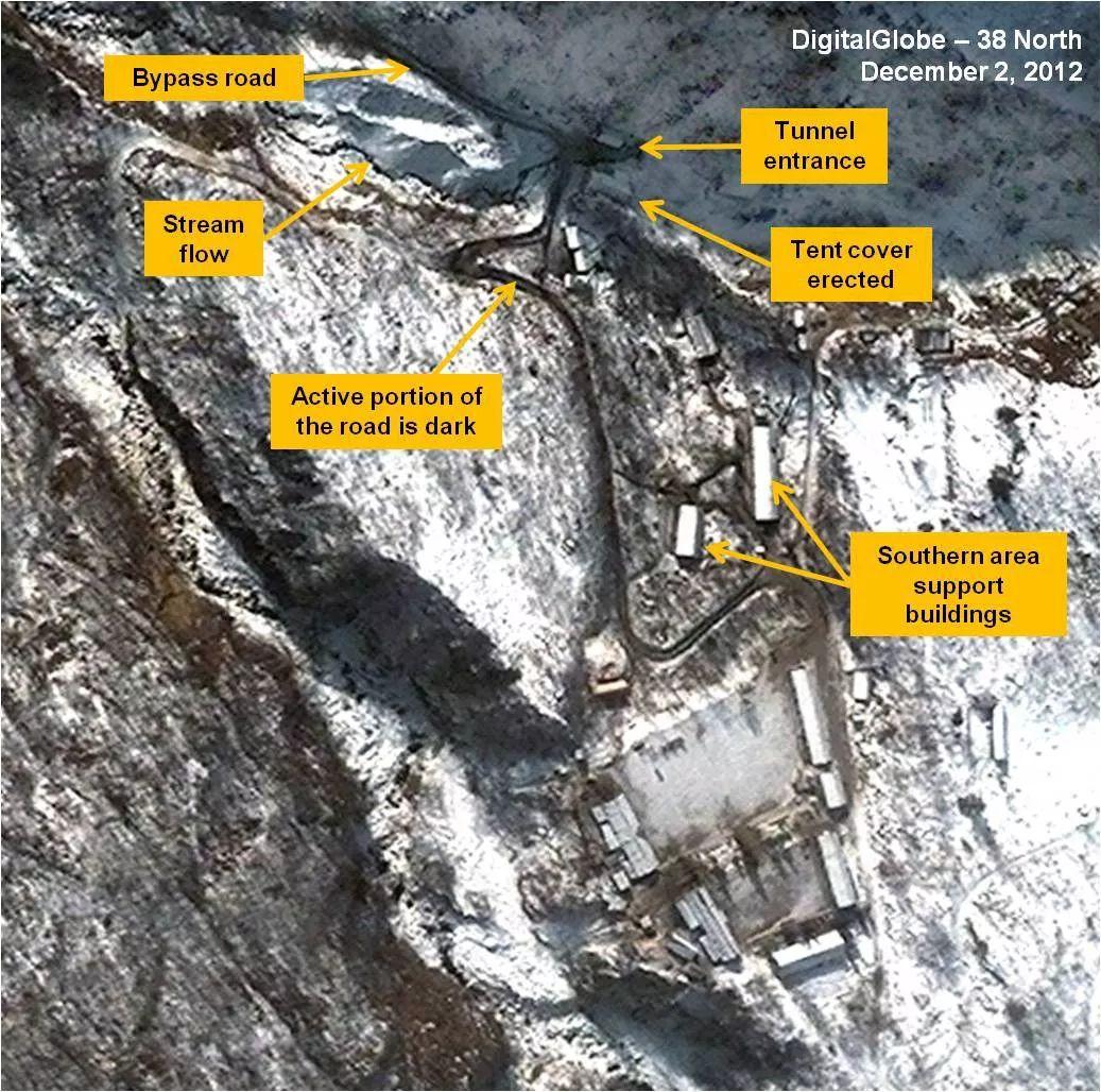 朝鲜废弃位于朝东北部的丰溪里核试验场(图)