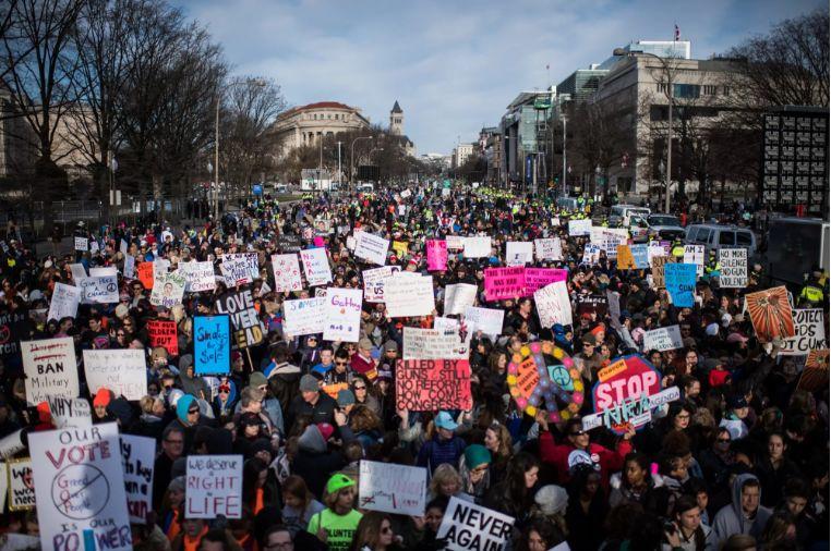 ▲3月25日的反枪支集会(美国《华盛顿邮报》)