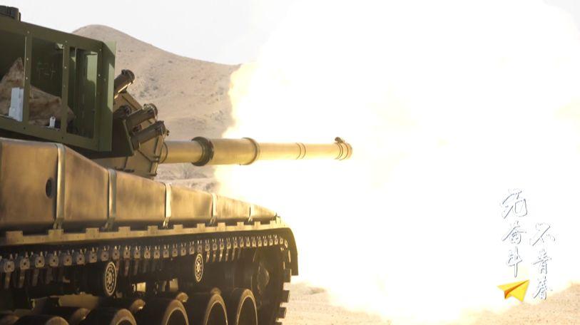 △99大改主战坦克实弹射击试验现场