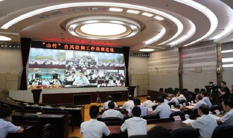 鹿心社检查指导防汛防台风工作