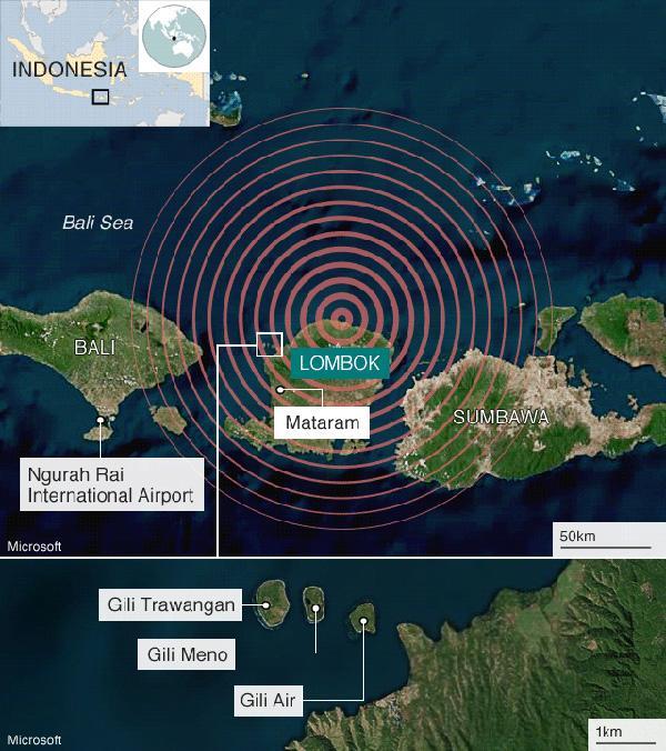 两万人震后大逃亡:中国游客目击印尼龙目地震惊魂