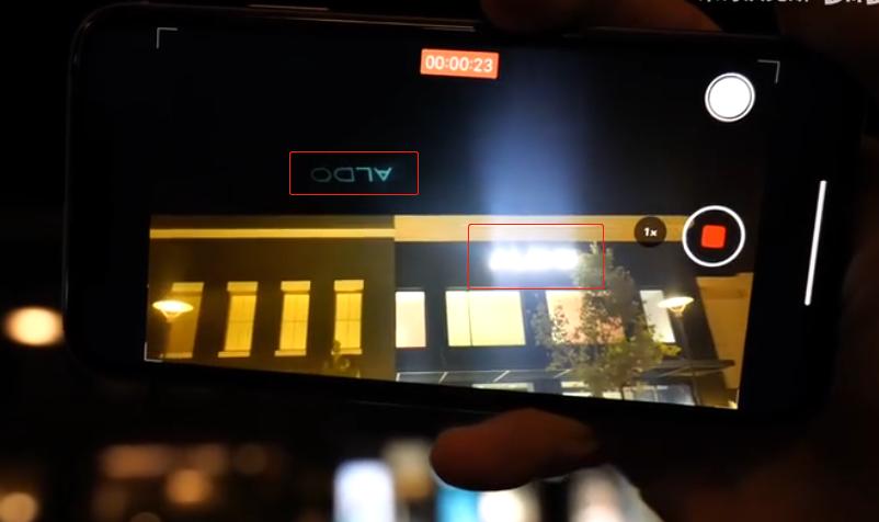 iPhone 11夜间拍摄绘里 视频截图