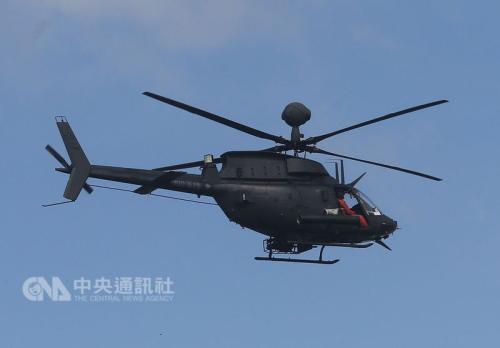 """图为OH-58D同型直升机。(台湾""""中央社""""档案照片)"""
