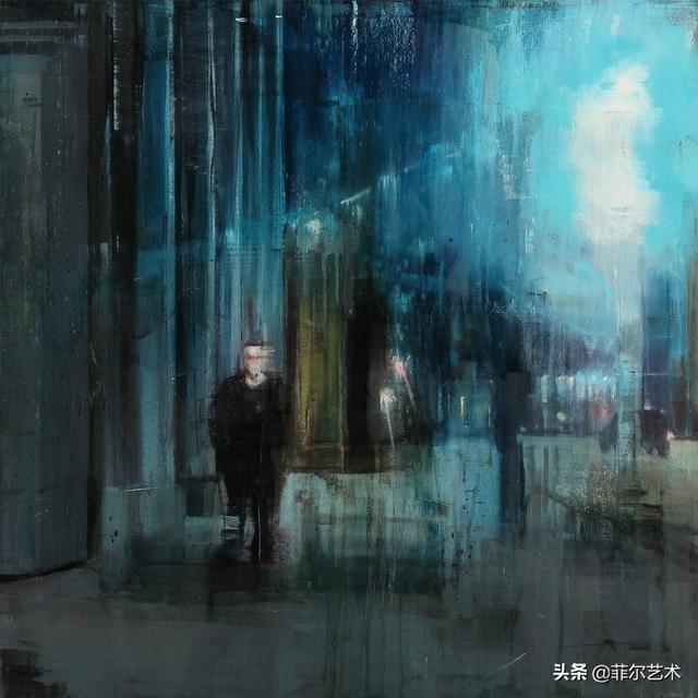 寂寞的街头~美国当代艺术家Brett Amory绘画作品赏析