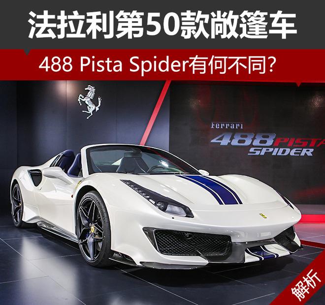 法拉利第50款敞篷车 488 Pista Spider有何不同